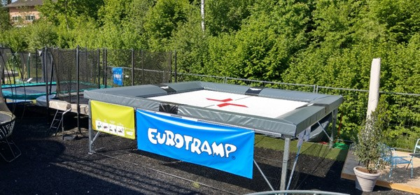 Eurotramp Freestyle Fivesquare Trampolin Occasion